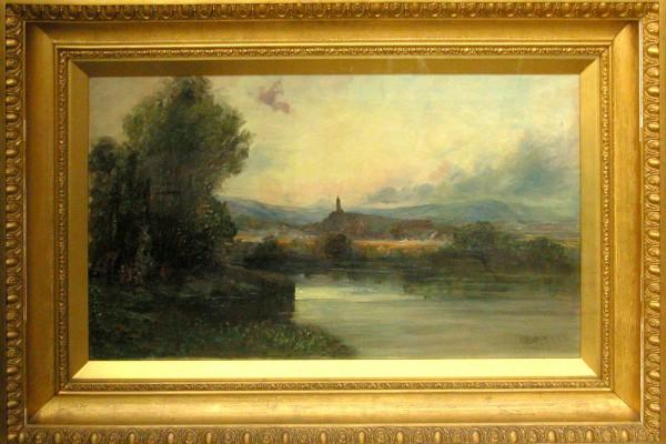 The Wallace Monument and the River Forth, 1898, Edmund Baker