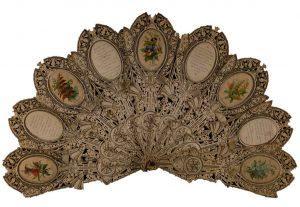 An machine cut paper lace fan 1889