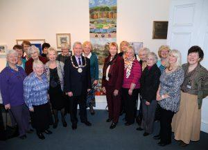 Presentation of the Stirling 2014 banner to the Stirling Smith from the Stirling & District Embroiderer's Guild