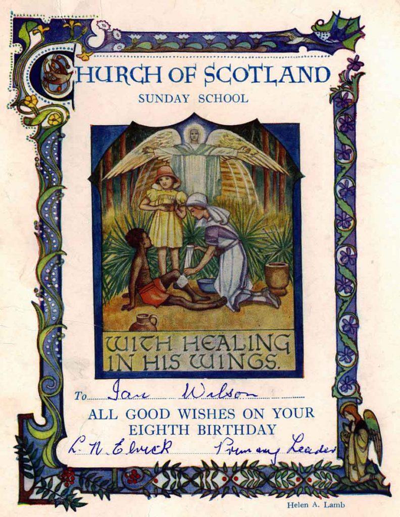 Church of Scotland brithday card designed by artist Helen Lamb