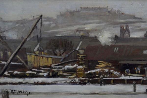 Timberyard in the Snow