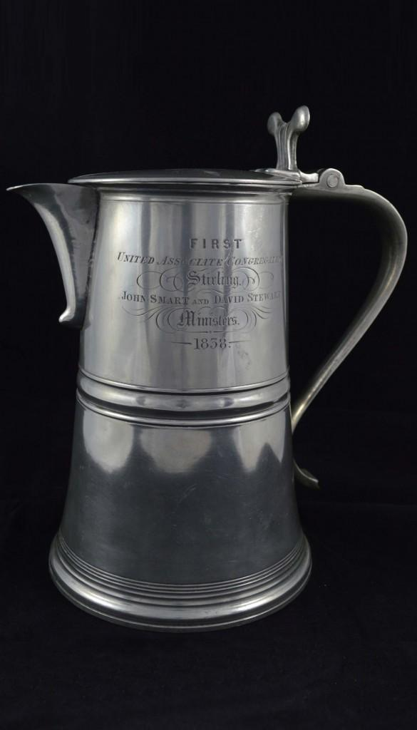 Pewter Flagon Laver, First United Associate Congregation