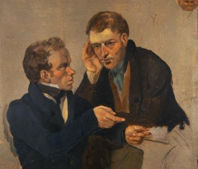 Client being instructed by a law Agent, Sir George Harvey R.S.A. (1806-1876)