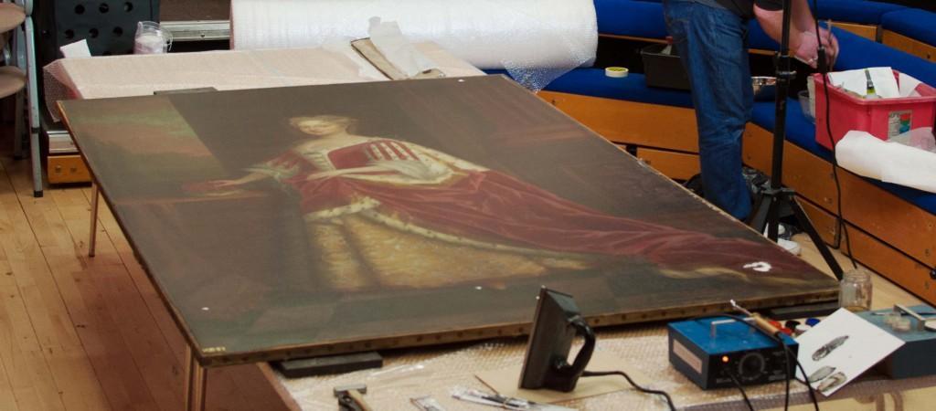 Catherine of Anspach restoration
