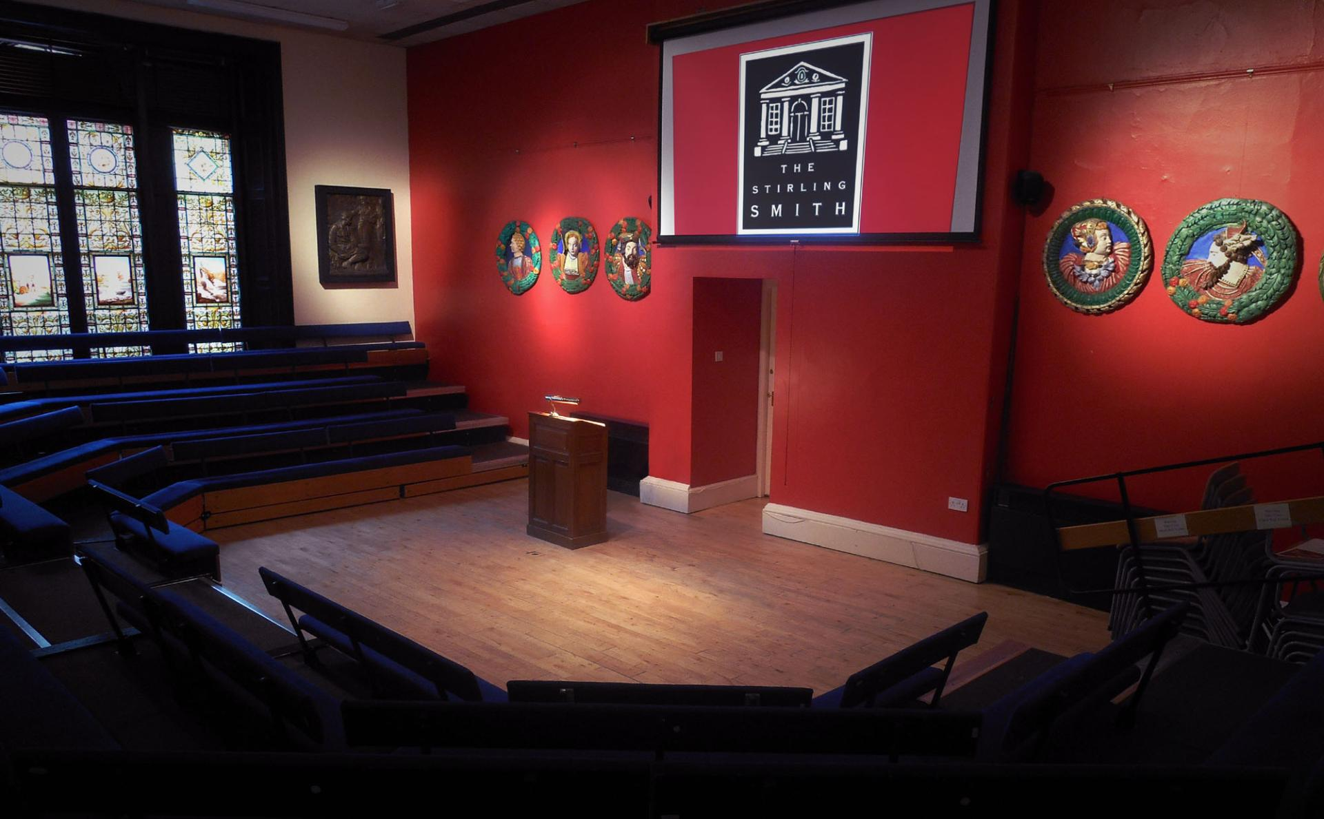 image of the lecture theatre of the stirling smith art gallery and museum