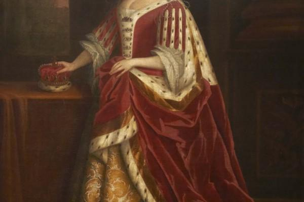Image show portrait of Queen Caroline of Ansbach (1683 -1737)