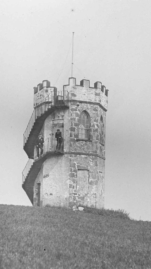 Gartincaber Tower, Doune, pre 1940s, image by Thomas W. J. Leishman (1885 – 1965),