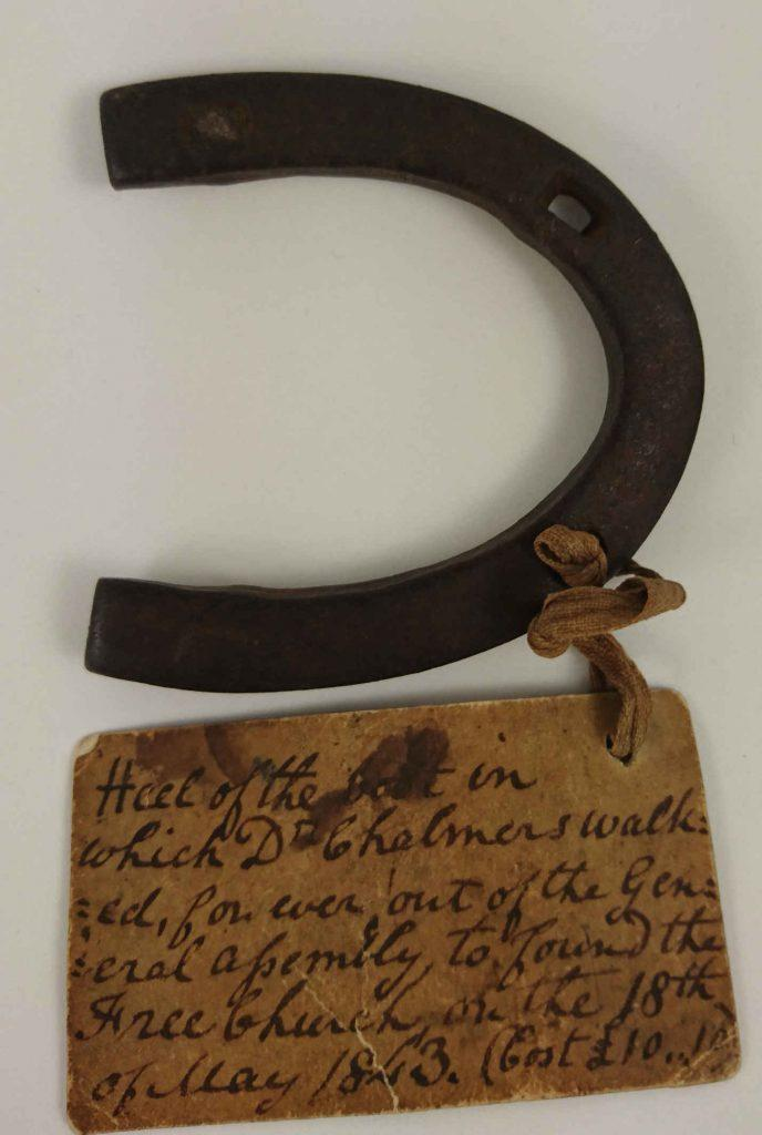 Heel of the Dr Chalmers worn as he walked out of the general assembly and created teh Free Church of Scotland